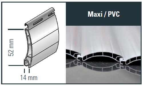 Maxi Kunststoff Profilzeichnung