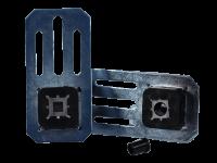 Motorlager Set | 10 mm, Vierkant, Langloch, Leise-Lauf