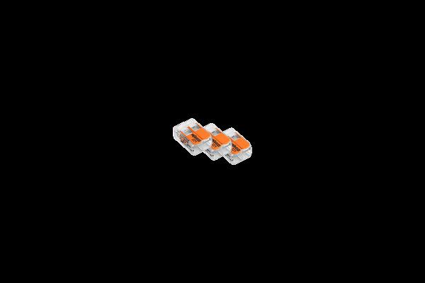 Wago Verbindungsklemme 2-polig, schraublos, 3er-Set