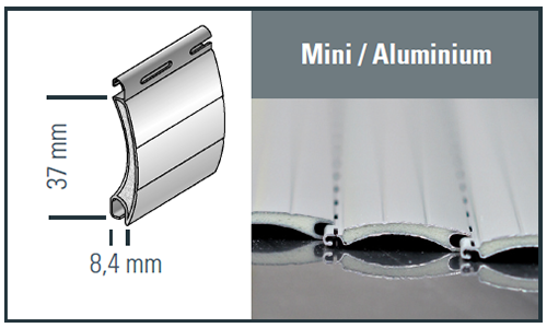 Mini Aluminium Profilzeichnung