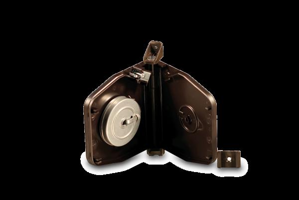 Aufschraubwickler Mini schwenkbar aufklappbar Flexo braun