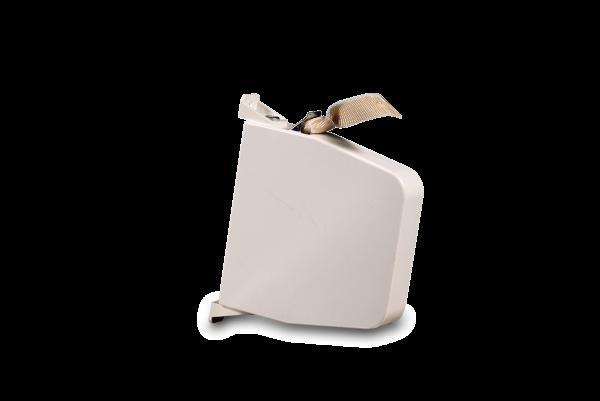 Aufschraubwickler Maxi schwenkbar weiß, inkl. 5,3 m Gurt