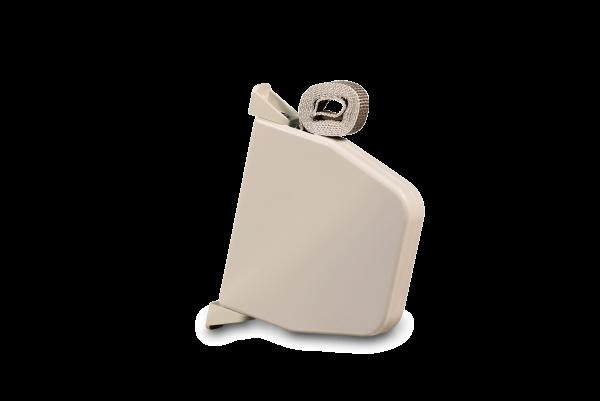 Aufschraubwickler Mini schwenkbar weiß, inkl. 5,0 m Gurt