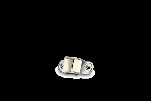 Gurtführung Mini mit Laufrolle, weiß