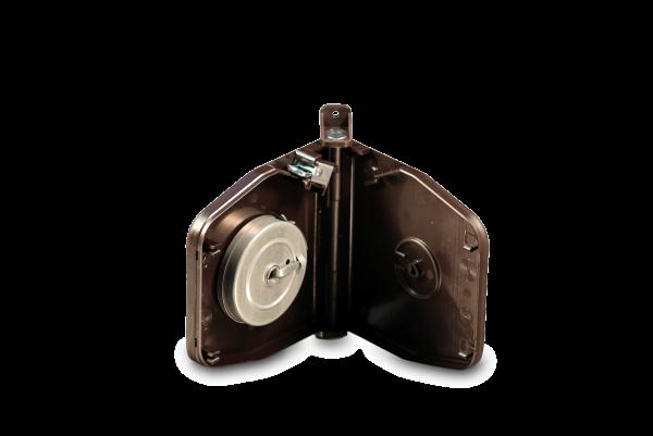 Aufschraubwickler Mini schwenkbar aufklappbar braun