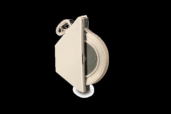 Halbeinlasswickler Mini weiß, inkl. 5,0m Gurt, Lochabstand 13,5 cm