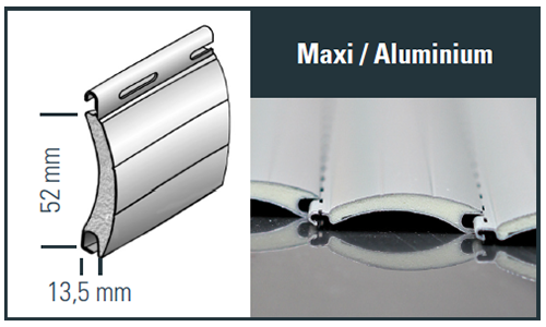 Maxi Aluminium Profilzeichnung